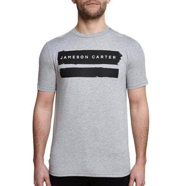 Paint Stripe T Shirt - Grey Marl