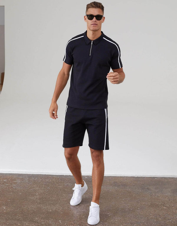 Parlour Twin Set Polo Shirt - Black