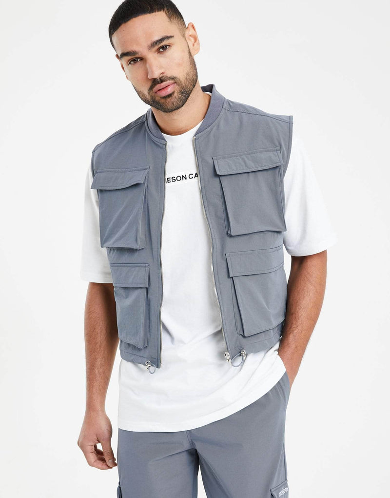 Phantom Combat Gilet Sleeveless Jacket - Carbon Grey