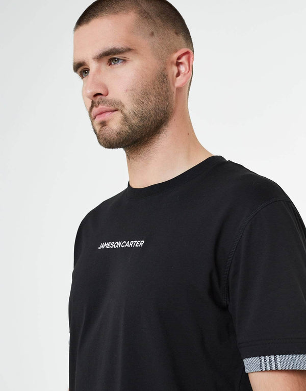 Portland Check T Shirt - Black
