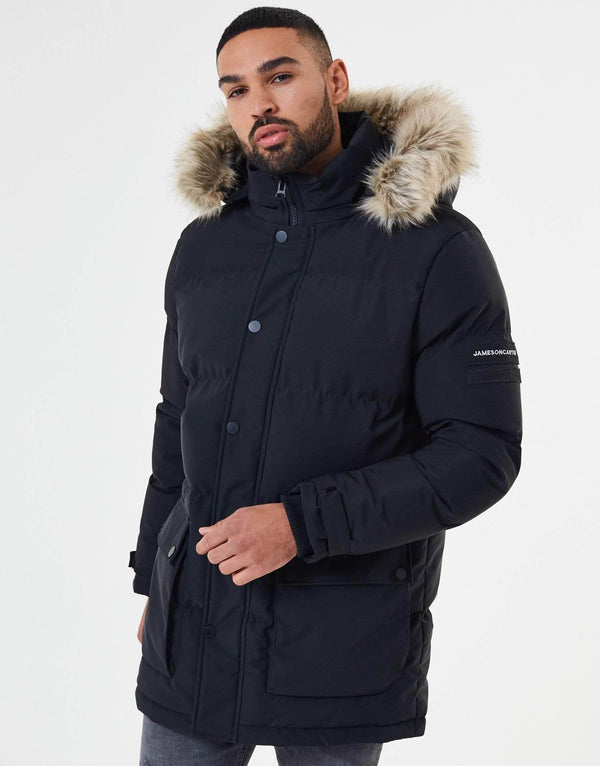Premium Long Puffer Jacket - Black