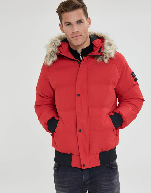 Jameson Carter Coats Premium Puffa Jacket - Red