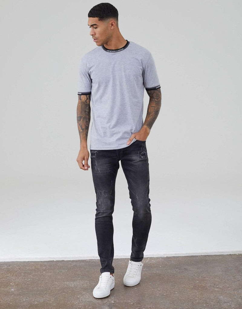 Radial T Shirt - Grey Marl