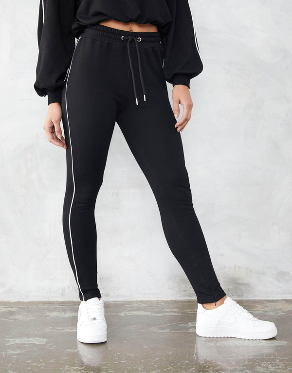 Jameson Carter Womens Tracksuit Pant Ramsey Joggers - Black