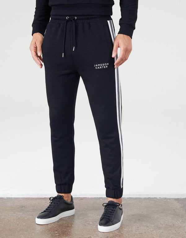 Jameson Carter Tracksuit Pants Rowley Joggers - Black