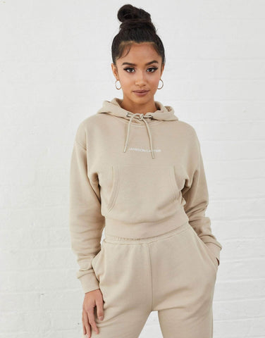 Jameson Carter Hoodies, sale Ruby Cropped Hoodie - Stone