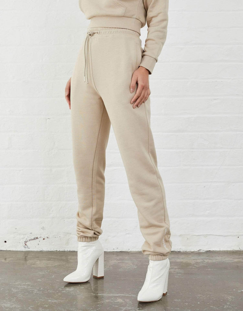 Jameson Carter Women Ruby Tracksuit Pants - Stone