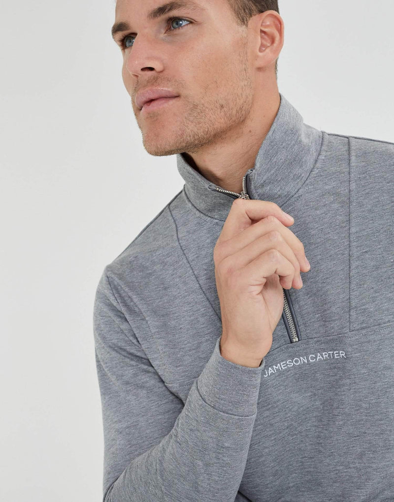 Jameson Carter Hoodies Shorrock Quarter Zip - Grey