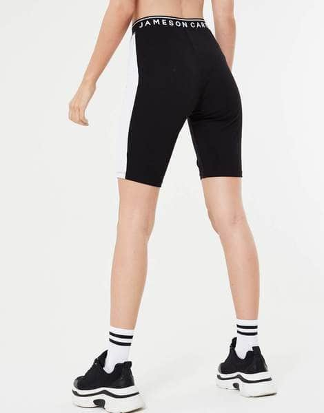 Side Panel Cycling Shorts - Black