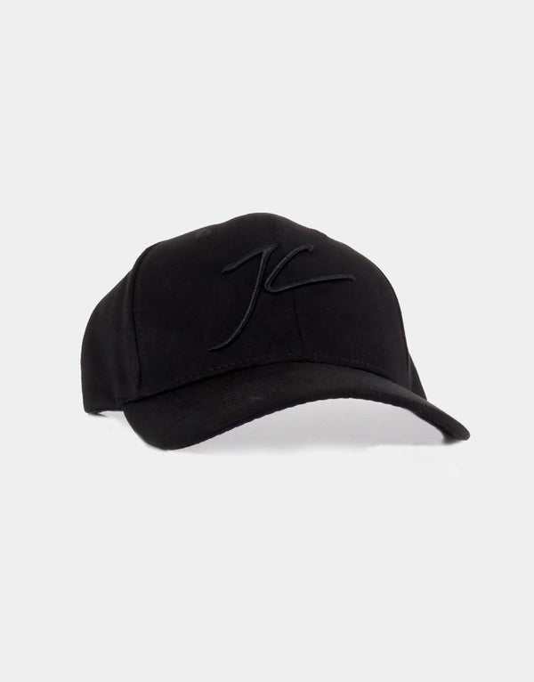 Suede Trucker Cap - Black