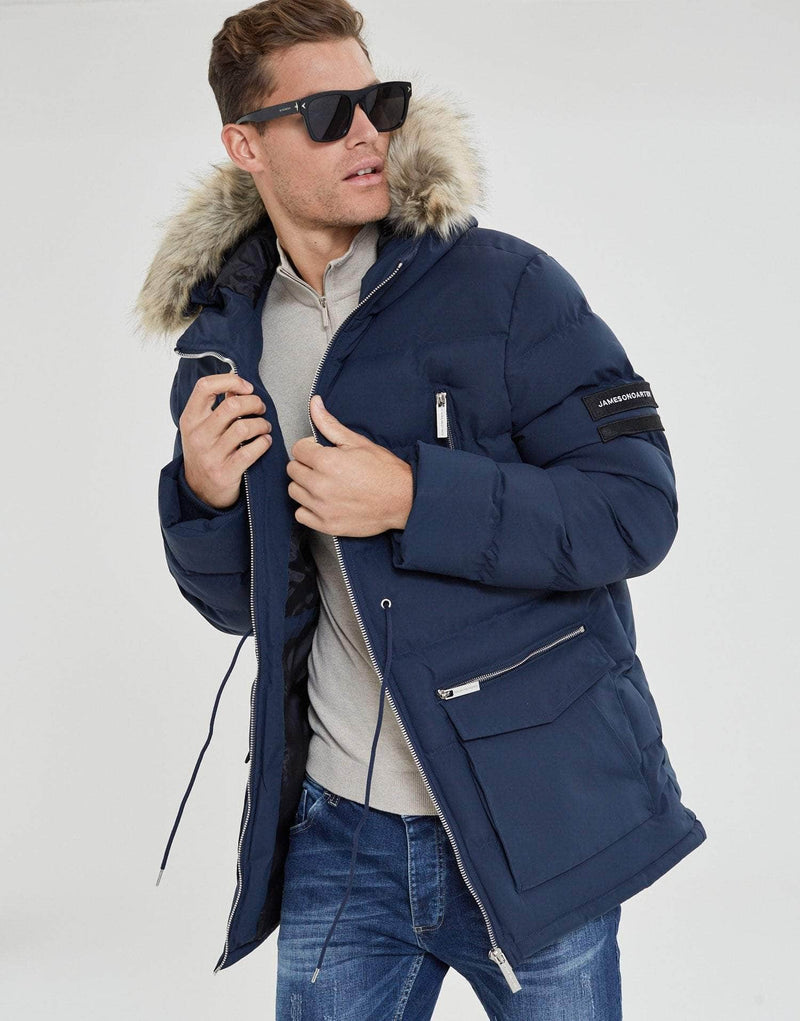 Jameson Carter Coats Toronto Puffer Jacket - Midnight Blue