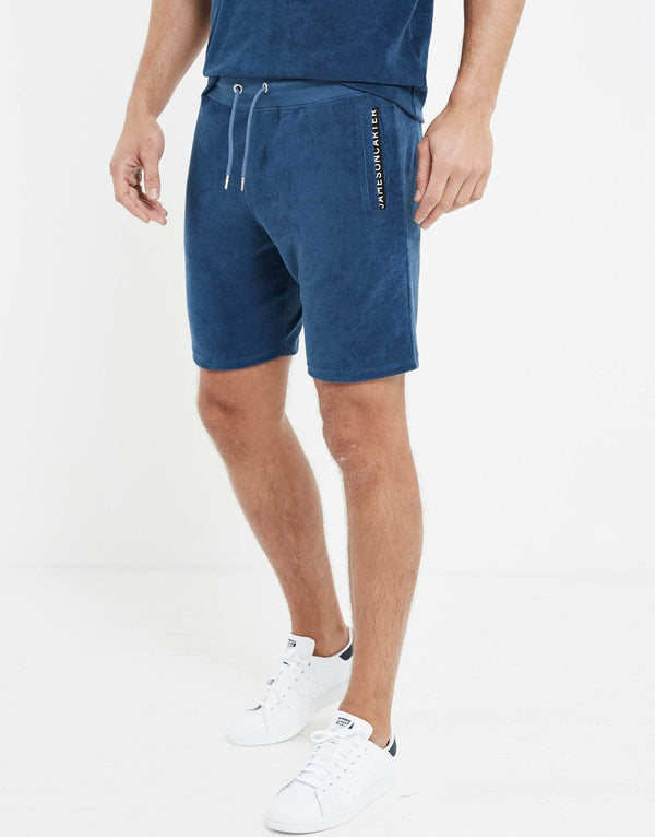 Towelling Twin Set Shorts - Royal Blue