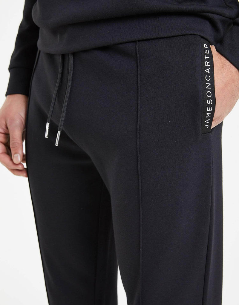 Tullamore Interlock Tracksuit Pants - Black
