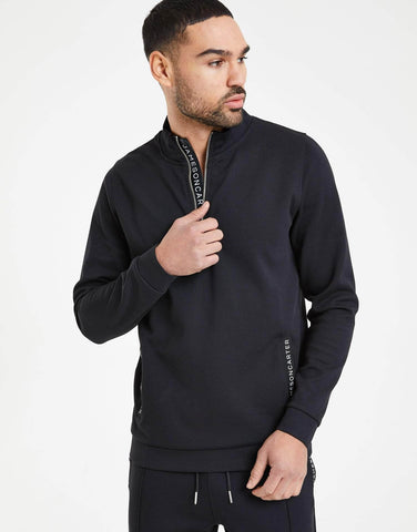 Jameson Carter Hoodies, not-sale Tullamore Quarter Zip Jacket - Black
