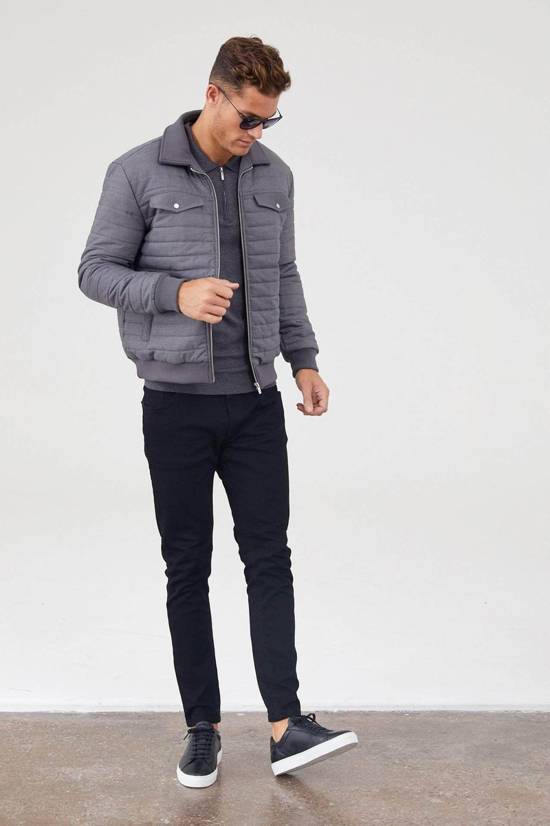 Jameson Carter Coats Tully Puffer Jacket - Grey