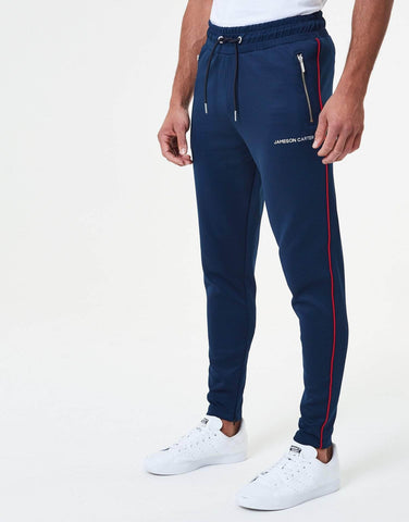 Jameson Carter Tracksuits, not-sale Victor Piped Poly Tracksuit Pants - Navy & Red