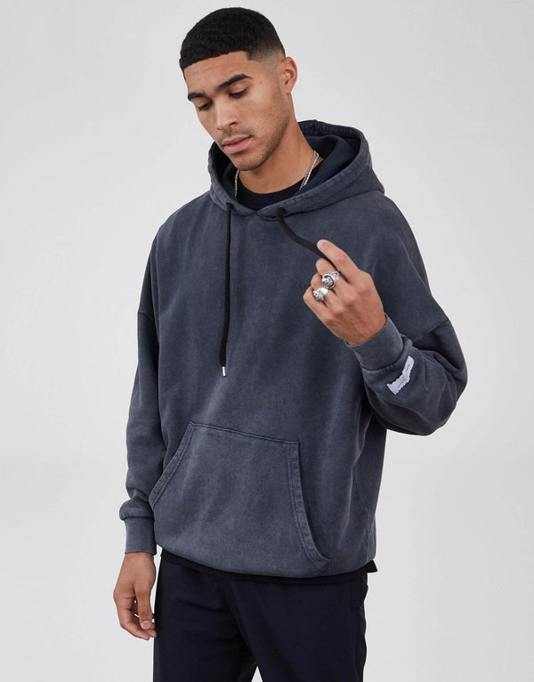 Jameson Carter Men Workshop Oversized Hoodie - Acid Wash