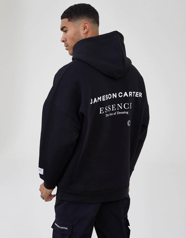 Jameson Carter Men Workshop Oversized Hoodie - Black