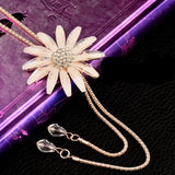 New Sexy Big Flower Double Lines Long Pendant Women Necklace Chain