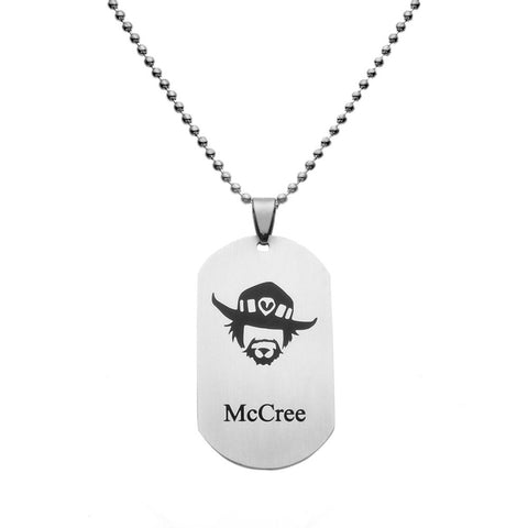 Hot New Game Overwatch Jewelry Pendants Tracer Reaper Key Holder Necklace