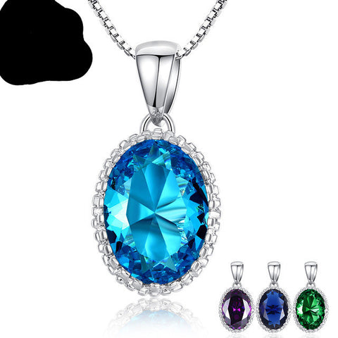 High Quality Colorful Stones Platinum Plated Adjustable Chains Wedding & Engagement