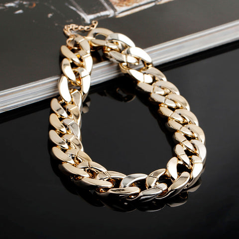 Fashion Gold & Silver Plated Necklace