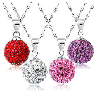 10mm Micro Disco Ball Crystal Necklace