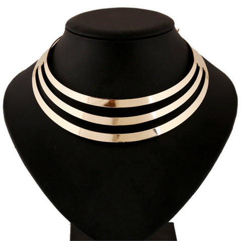 Choker Necklace Gold Chain Collar