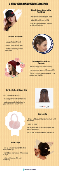 6 elegant winter hair accessories by Hair Drama Co