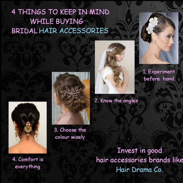 4 things to keep in mind while buying bridal hair accessories