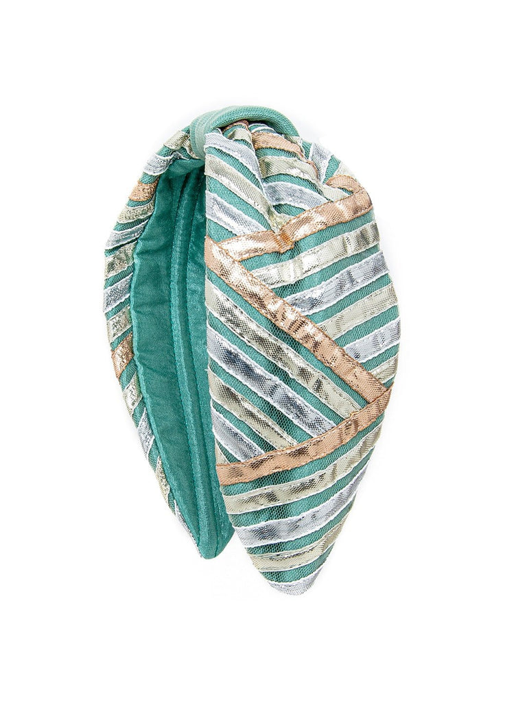 TURQUOISE GOTA TURBAN-Multi color - Hair Drama Company