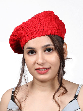 Beret Cap - Red - Hair Drama Company