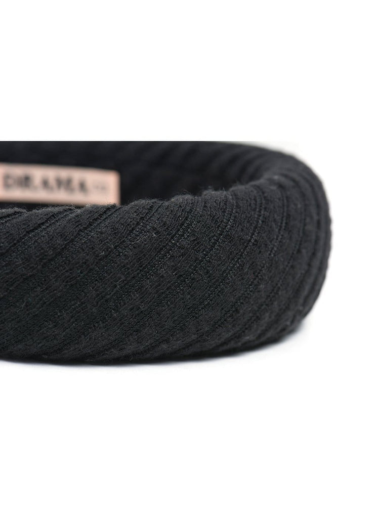 Hair Drama Company Knitted Sponge Turban-Black - Hair Drama Company