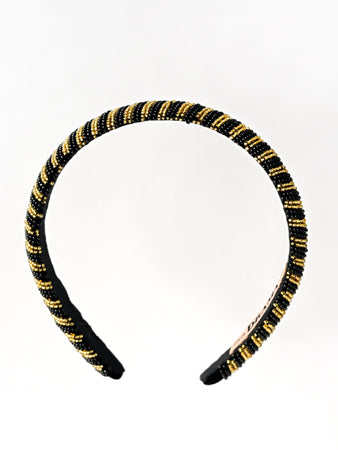 GEOMETRIC BEAD WORK HAIRBAND - Hair Drama Company