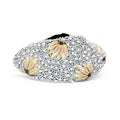 Shell & Pearl Knotted Headband- Black