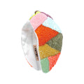 Multicolor Camouflage Knotted Headband- Bright