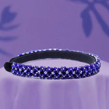 SLEEK ROYAL BLUE HEADBAND WITH BEAD EMBROIDERED - HAIRBAND