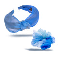 Shaded Blue Organza Headband