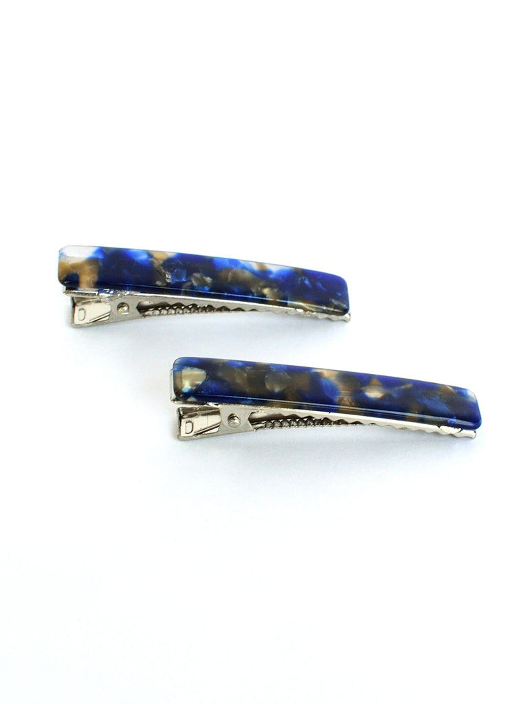 Blue alligator clip- Set of 2 - Hair Drama Company