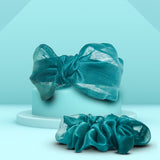 Amber Organza Headband and Scrunchie Set