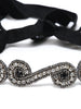 Princess Jeweled Headwrap-Silver & Black - Hair Drama Company