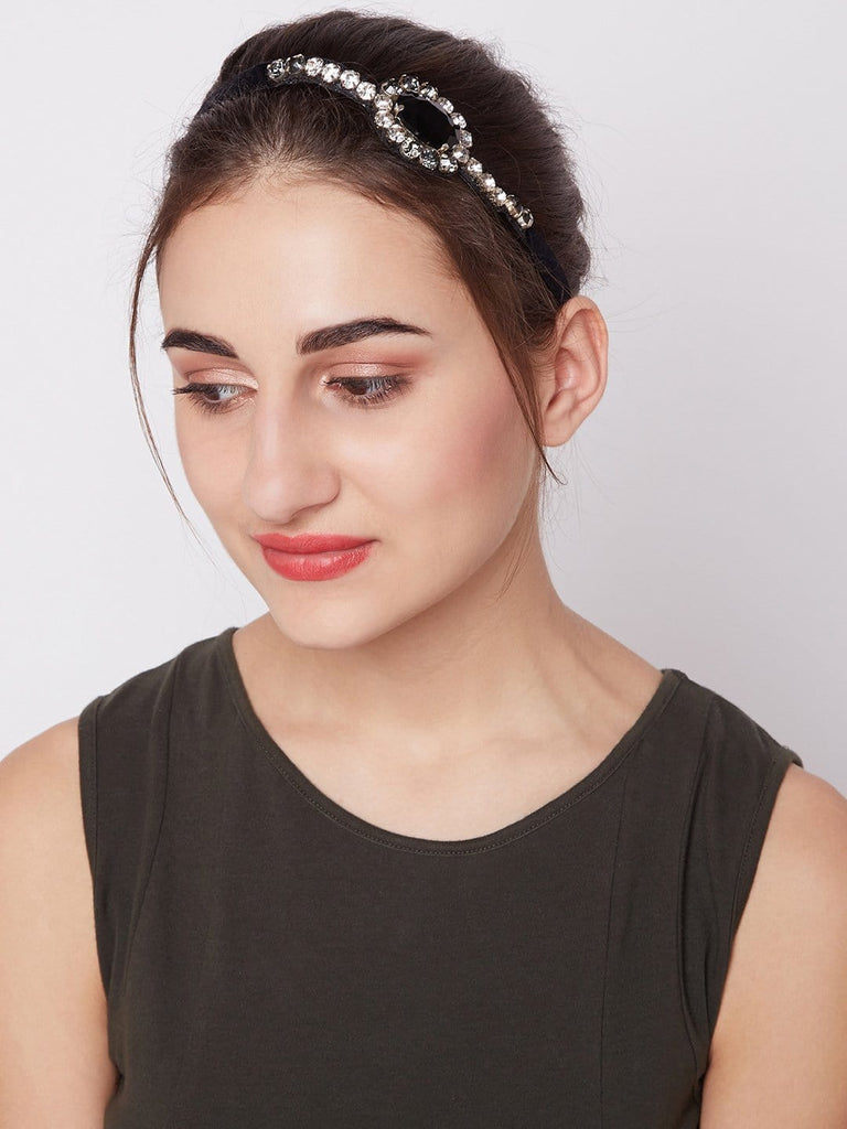 Black and  Grey Headwrap - Hair Drama Company