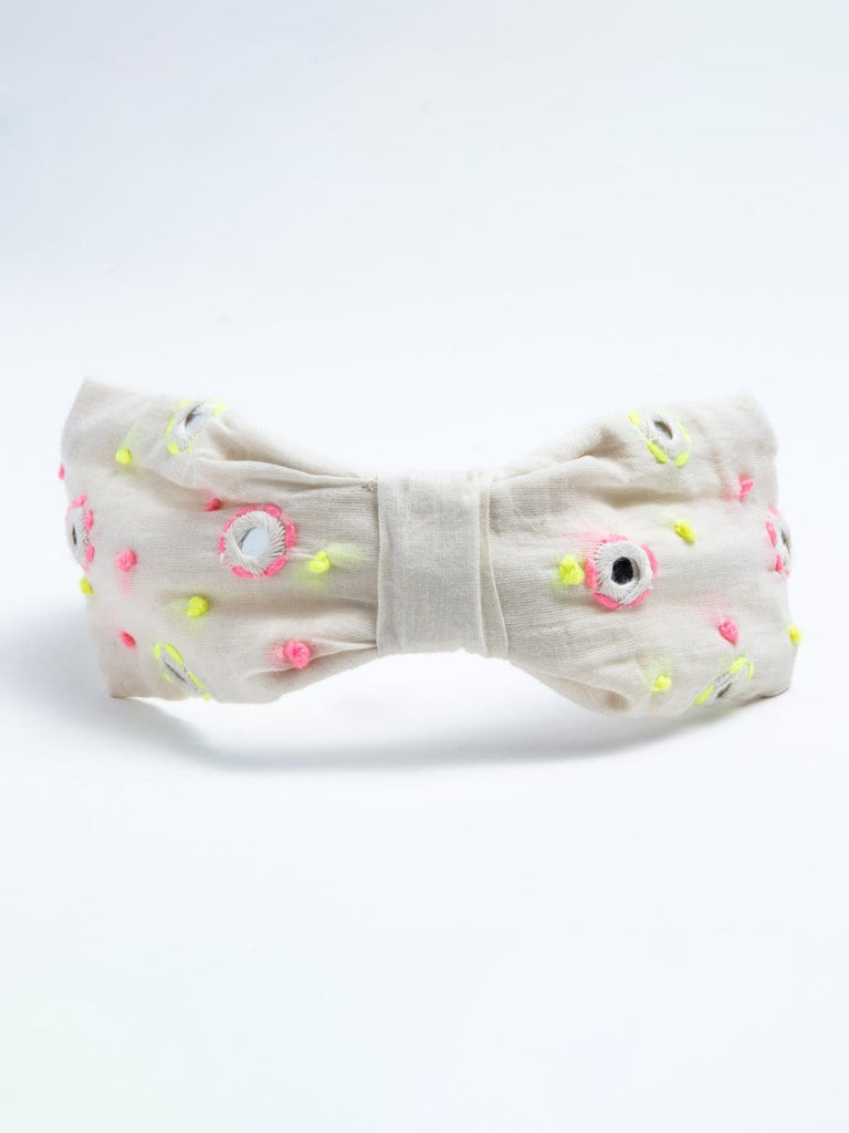 Thread Embroidered Mirror Headband - Hair Drama Company