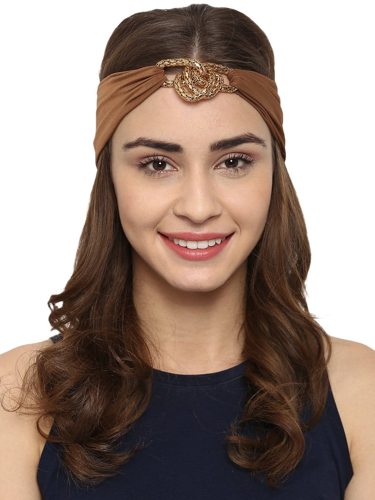 Escher's Knot Turban Band-Natural - Hair Drama Company