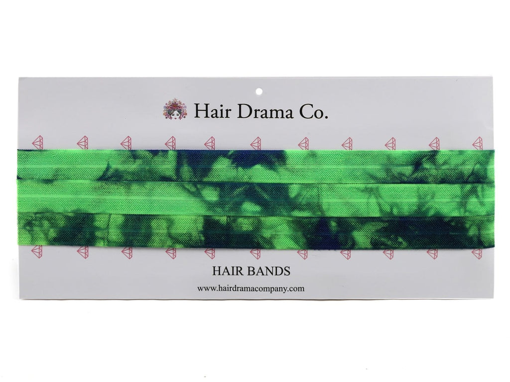 Green Tie Dye Knotted Headbands - Hair Drama Company