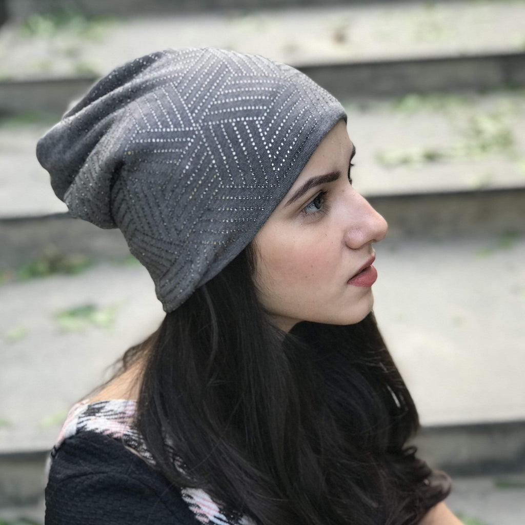 Casual Knitted Beanies - Grey - Hair Drama Company