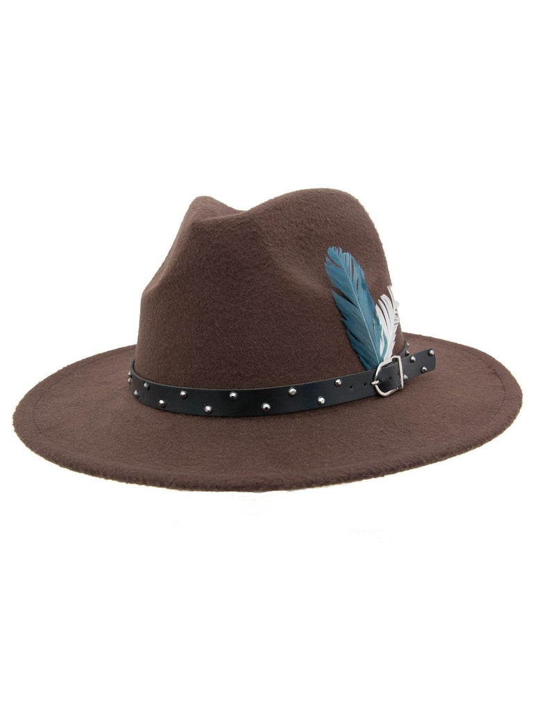 Women Fedora hat - brown - Hair Drama Company