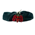 Red Bug Turban band-Black