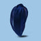 Organza Knotted Headband- Navy Blue