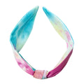 Blue Tie Dye Knotted Headband